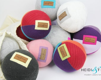 NEW Sweater ball gift set 5 pack, baby toddler toy cashmere merino pink blue grey