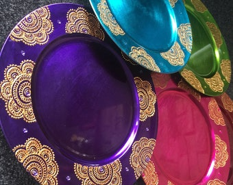 Mehndi Plates Images : Silver charger plates wedding decorations indian mehndi