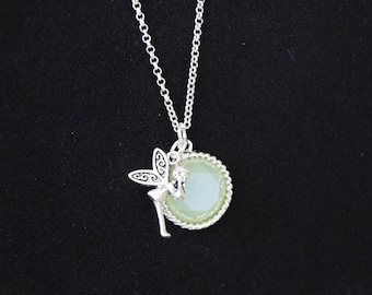 Tinkerbell Disney Inspired One of a Kind Necklace
