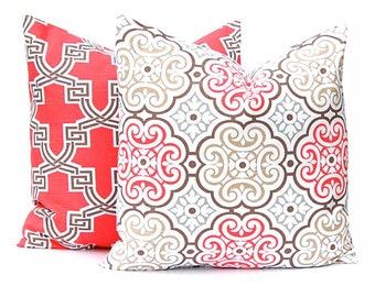 Decorative Pillow Covers - Dark Coral - Throw Pillow Covers - Sofa Pillow Covers - Living Room Decor - Decorating Ideas - Cushion Covers