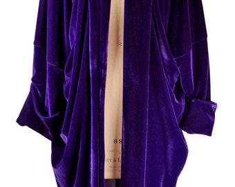 Baylis and Knight Purple Velvet  Duster Coat Opera