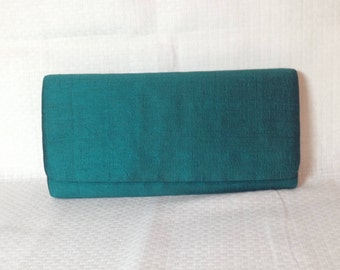 Vintage Green Silk Clutch