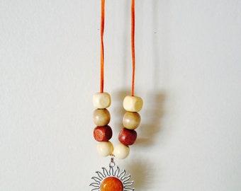 Blazing Sun Pendant Necklace