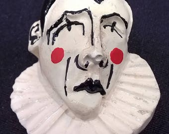 PIERROT CLOWN BROOCH