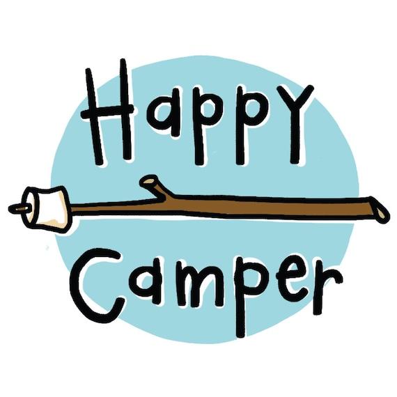 Happy Camper Temporary Tattoos Camping Smores SET