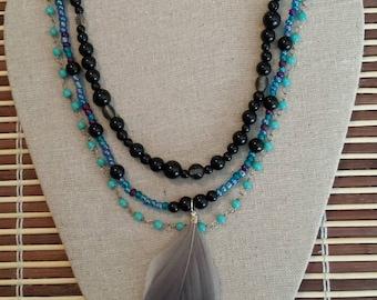 Take Flight multi-strand necklace