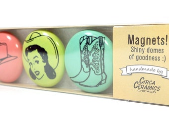 magnet set for a cowgirl. (3pk)