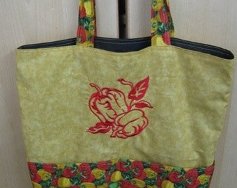 Bell Peppers Eco Friendly Bag, Tote, Market Tote or Purse