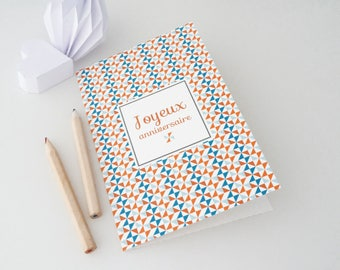 "PRICE MINI greeting card ""Happy birthday"" with Scandinavian pattern"
