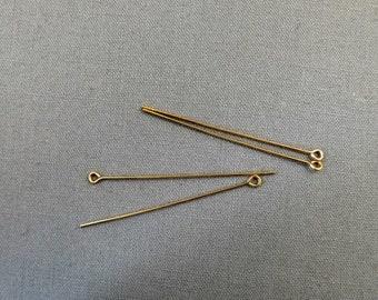"""Eye Pin 14K/20 Gold Filled 1.5"""" 22GA Destash #18-029"""