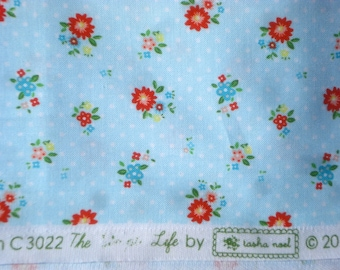 The Simple Life Tasha Noel Riley Blake fabric small blue floral Long Quarter Yard