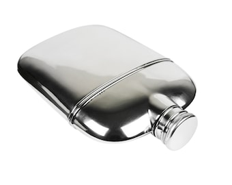 Antique Sterling Silver Flask, c.1920s-1930s, International Silver Co.