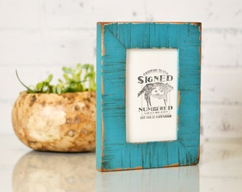 """4x6"""" Picture Frame in 1.5 inch Escalante Style with Super Vintage Finish Color of Your Choice - 4 x 6 Photo Frame"""