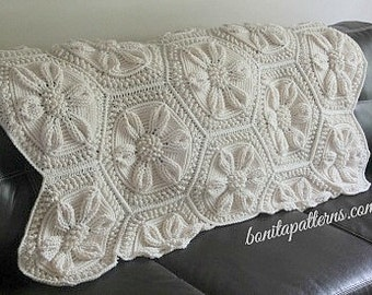 Embossed Crochet Daisy Blanket