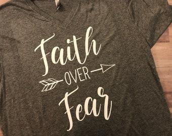 Faith Over Fear // Christian Tee Shirts