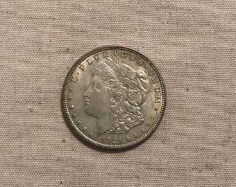 1921 Morgan Silver dollar, plus history of Railroads coin. #314