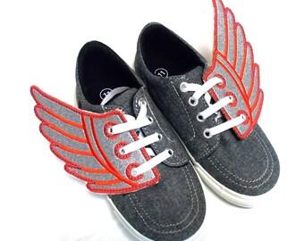 Warrior wings, Shoe flies, Angel wings, flying shoes, super hero shoe, Greek  Hermes, Roman Mercury shoe wings. Fun converse shoe decoration