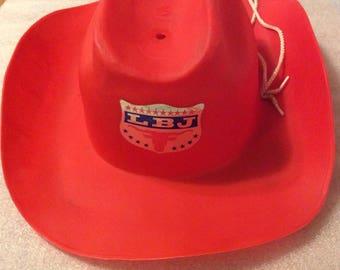 Lbj etsy lbj campaign cowboy hat 1964 election publicscrutiny Image collections