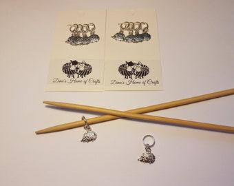Knitting stitch markers, set of 4, HEGDEHOGS