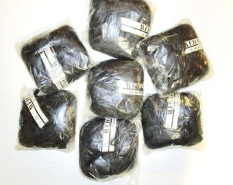 Welcomme Black Mohair Acrylic blend yarn. 7 skeins for crochet, knit and other craft projects. 1.75 oz. skeins. 55 yards. B
