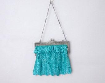 Bellaclaire art deco beaded purse   vintage 1920s purse   vintage flapper handbag