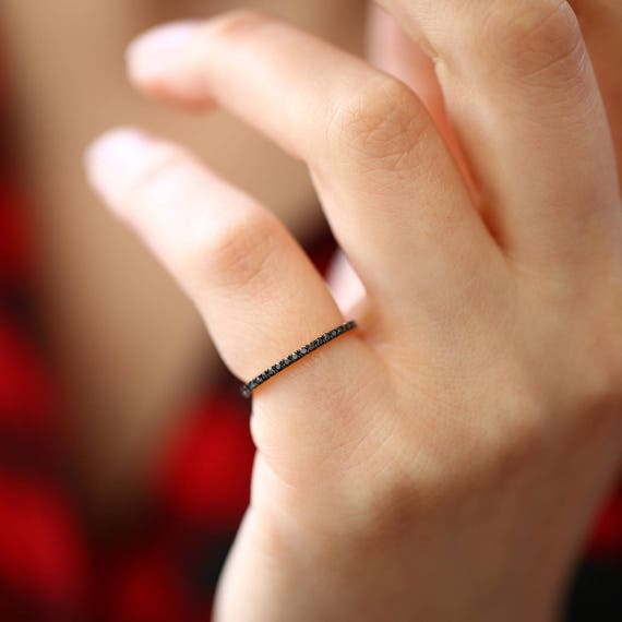 diamond ring bands black band eternity img