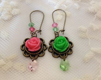 Outstanding roses and mini pears from swarovski elements.