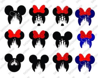Disney Castle SVG,Heart,Head Mickey Mouse,Cinderella,Magic Kingdom,Disneyland,Silhouette,svg,jpg,pdf, png,dxf,eps,Cut Files,castle,cricut