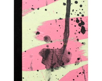 SECONDS SALE!!** Notebook by Fiona Hamilton - One Off, Paint, Pattern, Splash, Splodge, Foil, 48 Pages, Pink, Yellow, Green