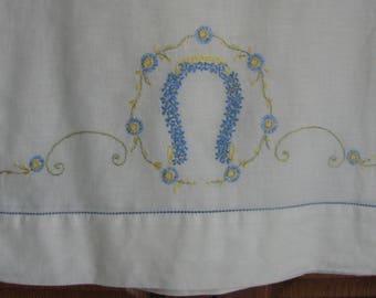 Vintage Pillowcase Set - Embroidered Pillowcase