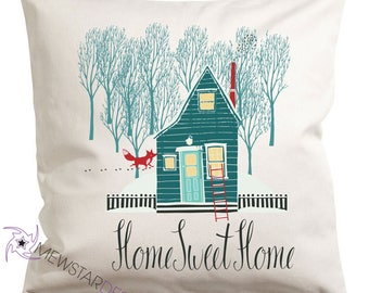 Home Sweet Home, Holiday Decor, Home Pillow, Throw Pillow, Canvas Pillows, Pillow Cover, Country Decor, Home Decor, Decorative Pillows,Gifts