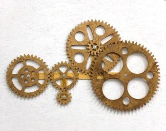 Mechanical Wall Art. Kinetic Wall Art Decor. Rotating Wooden Gears Wall  Decor Sculpture.