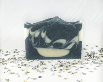 Lavender & Charcoal Cold Process Soap Serendipity Candles