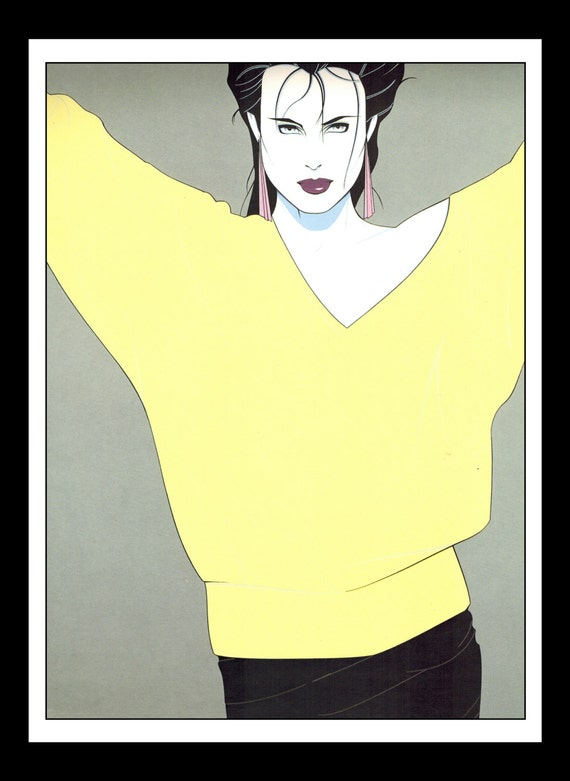 Patrick Nagel Vintage Pinup Illustration Sexy Nude Pinup