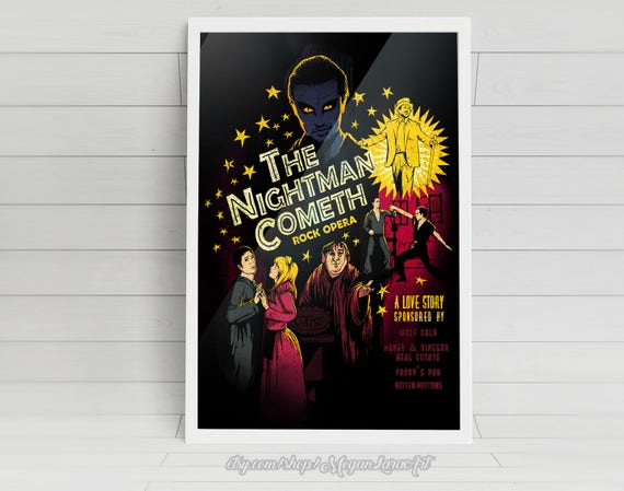 """The Nightman Cometh - signed 11""""x17"""" Poster"""