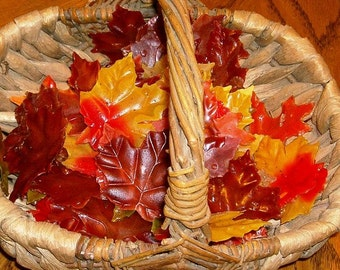Fall Wedding Favors Autumn Leaves Soap Single Use Guest Soaps