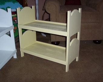 Doll bunk bed for american girl 18 inch dolls Yellow