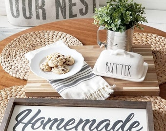 Homemade. Vintage style . Kitchen decor. Rustic sign. Rustic framed sign.