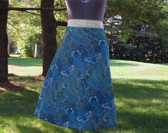 Wrap Skirt Reversible Butterflies with Sand