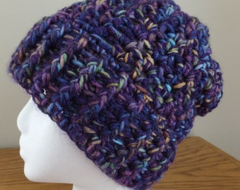 One of a kind hand dyed wool and baby alpaca women's hat