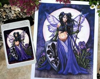 Black Iris print and sticker by Jane Starr Weils