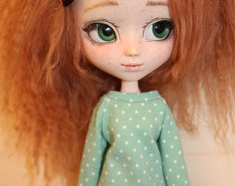 "Sweater ""mint"" polka dots for Pullip Obitsu"