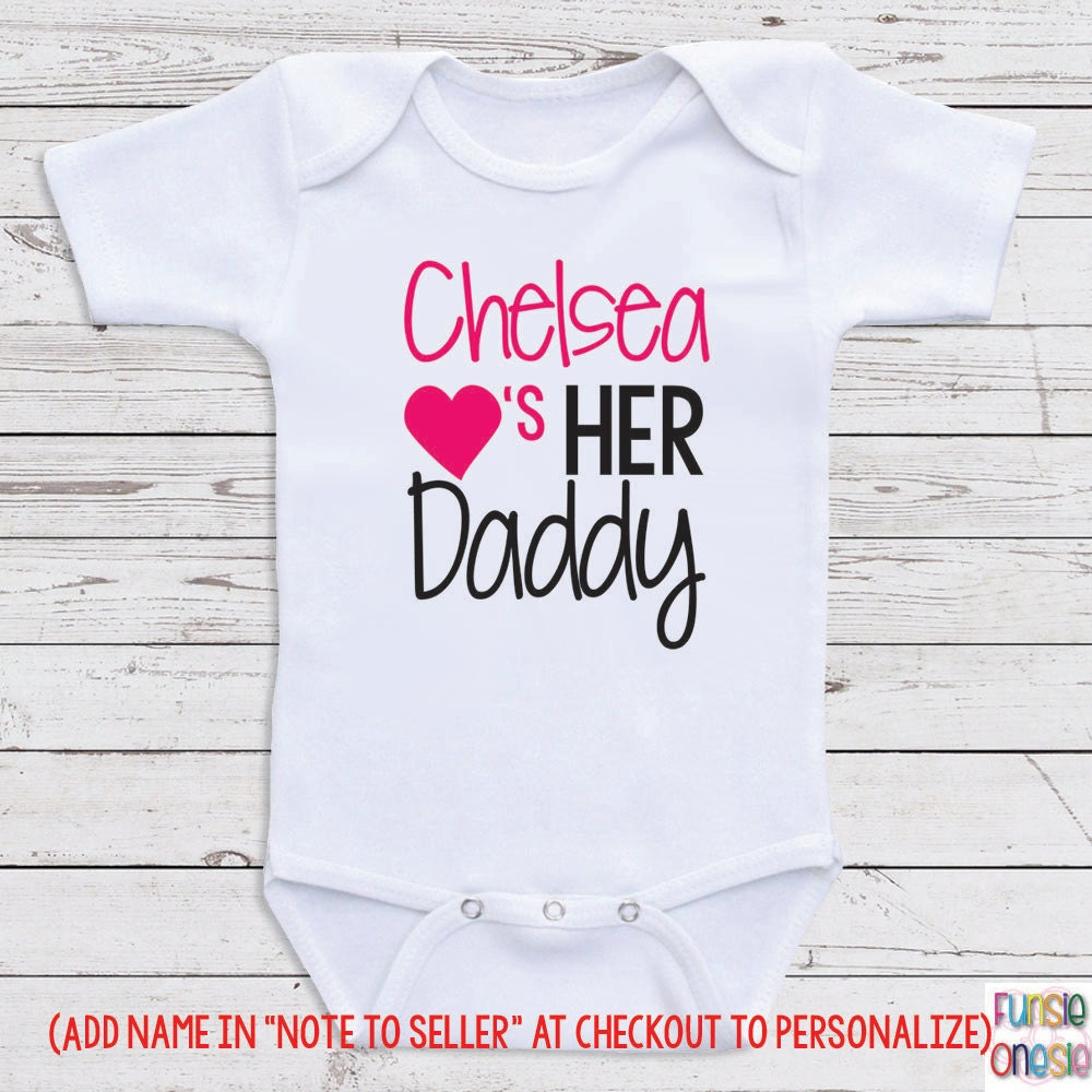 Carters baby clothes springfield il newest and cutest baby custom baby clothes chelsea loves her daddy short negle Image collections