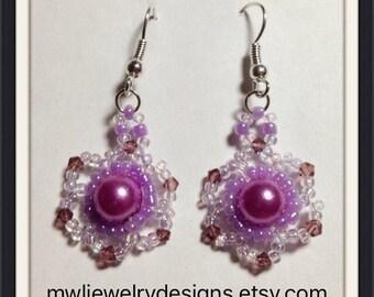 MWL Beautiful Purple earrings