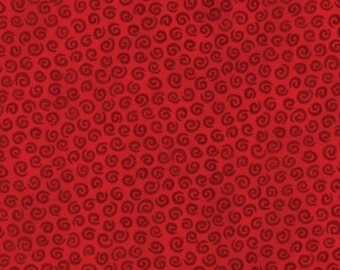 Wondertones - Ruby Swirls - Blank Quilting Fabric Yardage