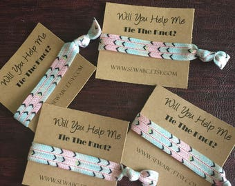 Help Me Tie the Knot Hair Ties Wedding Planner Party Favors Bridal Party Gifts Bridesmaid Gift Team Bride Tribe Bridal Shower Favor
