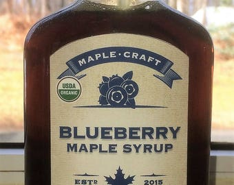 Organic Blueberry Maple Syrup