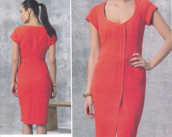 FREE US SHIP Vogue 1457 High Fashion Scoop Neck cocktail Dress Designer LiaLia Size 6/14 14/22 Bust 30.5 31.5 32 34 36 38 40 42 44 New