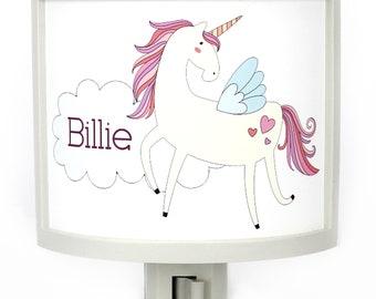 Personalized Unicorn Fantasy customizable night light childrens nightlights nursery kids room nightlight gift for baby shower gifts under 25