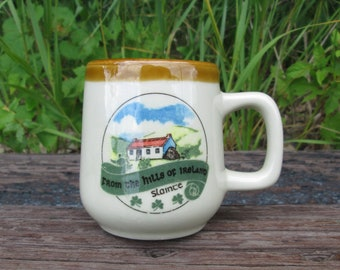 Irish Mug Slainte From the Hills of Ireland Vintage Souvenir Ceramic Coffee